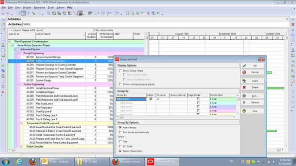 How to Convert a Project's WBS to Activity Codes in Oracle